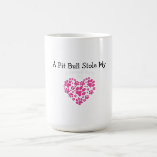 A Pit Bull Stole My Heart Coffee Mug
