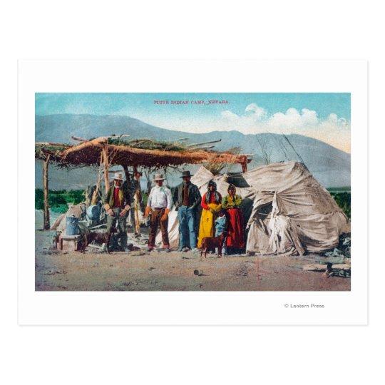 A Piute Indian Camp with NativesNevada Postcard