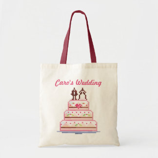 a pixel wedding ♥ tote bag