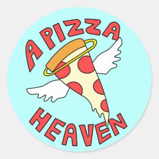 A Pizza Heaven Classic Round Sticker