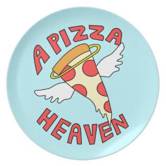 A Pizza Heaven Melamine Plate
