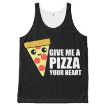 A Pizza Your Heart All-Over-Print Tank Top