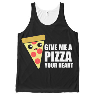 A Pizza Your Heart All-Over Print Tank Top