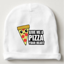 A Pizza Your Heart Baby Beanie