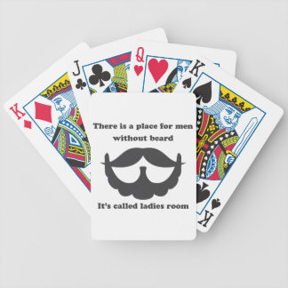A place for men without beard Playing Cards