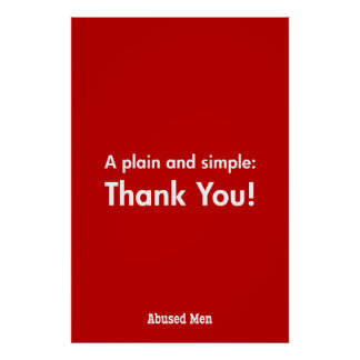 A Plain and Simple: Thank You! Poster