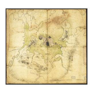 A Plan of Boston & Vicinity Map (1775) Canvas Prints