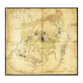 A Plan of Boston & Vicinity Map (1775) Canvas Print