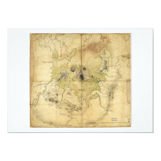 A Plan of Boston & Vicinity Map (1775) Card