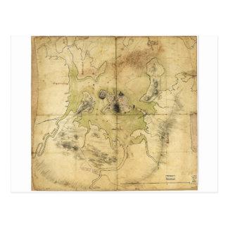 A Plan of Boston & Vicinity Map (1775) Postcard