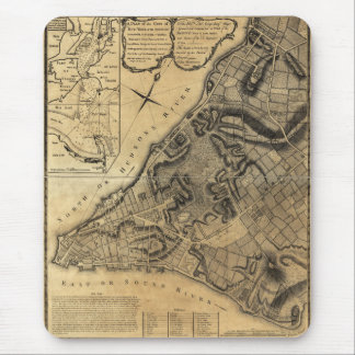 A Plan of the City of New York Map (1766) Mouse Pad