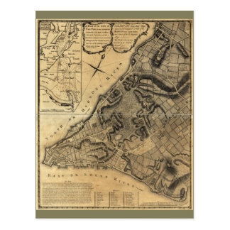 A Plan of the City of New York Map (1766) Postcard