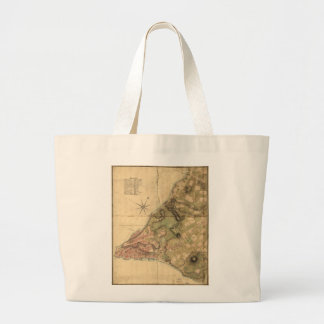 A Plan of the City of New York Map (1776) Large Tote Bag