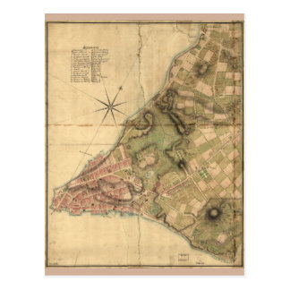 A Plan of the City of New York Map (1776) Postcard