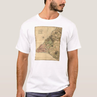 A Plan of the City of New York Map (1776) T-Shirt