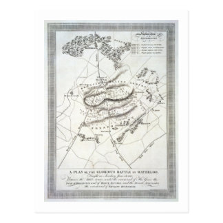 A Plan of the Glorious Battle of Waterloo (engravi Postcard