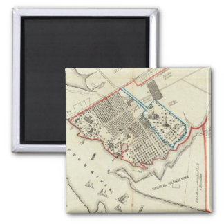 A Plan Of The Property Of The Hampton Normal 2 Inch Square Magnet