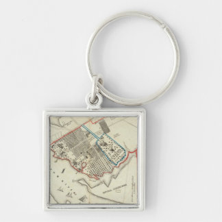 A Plan Of The Property Of The Hampton Normal Keychain