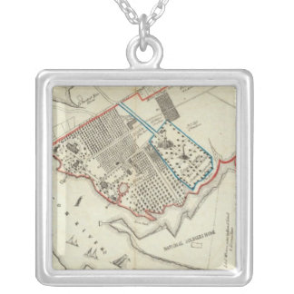 A Plan Of The Property Of The Hampton Normal Square Pendant Necklace