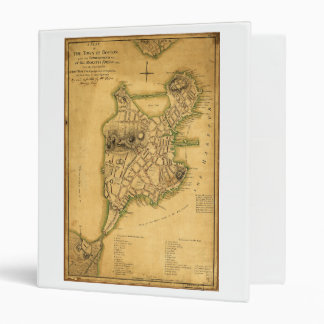 A Plan of the Town of Boston Map (1775) 3 Ring Binder