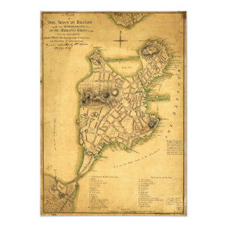 A Plan of the Town of Boston Map (1775) Card