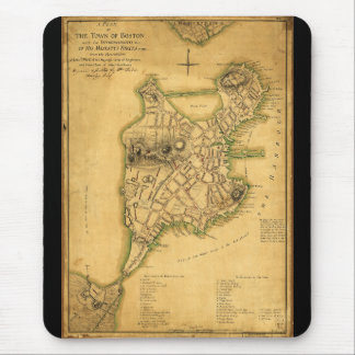 A Plan of the Town of Boston Map (1775) Mouse Pad