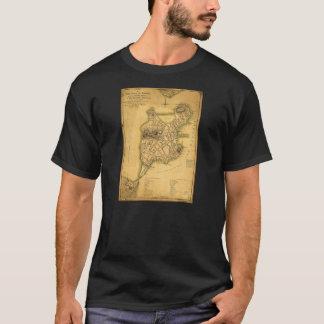 A Plan of the Town of Boston Map (1775) T-Shirt