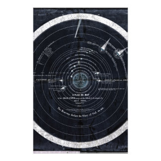 A plan or map of the Solar System Stationery Paper