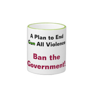 A Plan to End Violence Ringer Coffee Mug