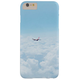 A plane flies about the clouds barely there iPhone 6 plus case