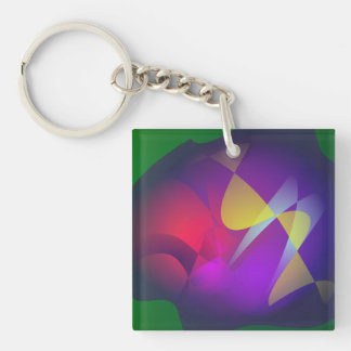 A Plankton in the Green Water Single-Sided Square Acrylic Keychain