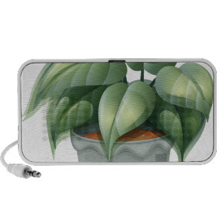 A plant in a pot travel speaker