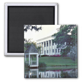 A Plantation On The Mississippi 2 Inch Square Magnet
