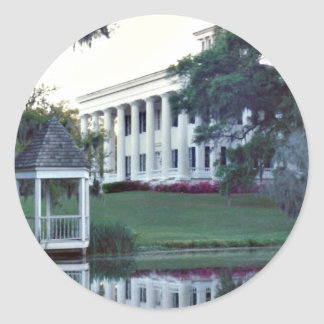 A Plantation On The Mississippi Classic Round Sticker