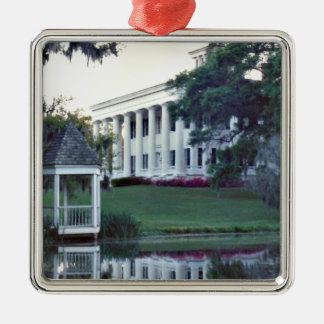 A Plantation On The Mississippi Metal Ornament