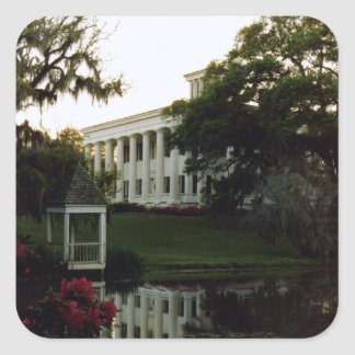 A Plantation On The Mississippi Square Sticker