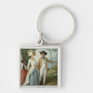 A Planter and his Wife, Attended by a Servant, c.1 Keychain