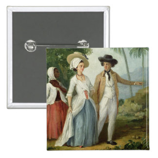 A Planter and his Wife, Attended by a Servant, c.1 Pinback Button