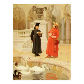 A Plate Of Cakes by Jean Georges Vibert Postcard