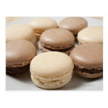 A plate of Chocolate and Vanilla Macarons, the Postcard