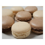 A plate of Chocolate and Vanilla Macarons, the Print