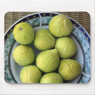A plate of fresh Mediterranean Figs Mouse Pad