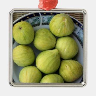 A plate of fresh Mediterranean Figs Christmas Ornament
