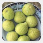 A plate of fresh Mediterranean Figs Square Sticker