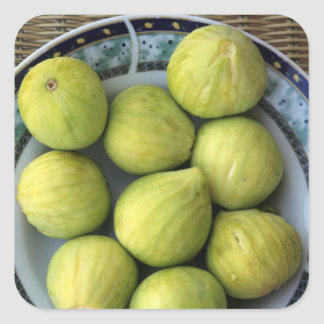 A plate of fresh Mediterranean Figs Square Sticker