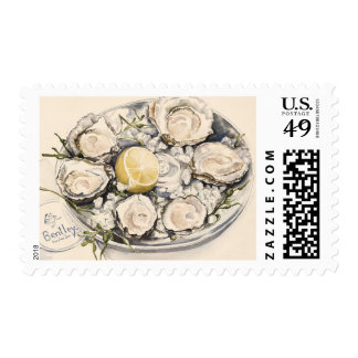 A Plate of Oysters 2012 Postage