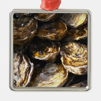 A plate of oysters. christmas tree ornament