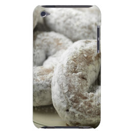 A plate of sugar donuts iPod touch Case-Mate case