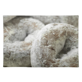 A plate of sugar donuts placemat