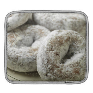 A plate of sugar donuts sleeve for iPads